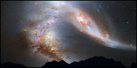 Andromeda and Mily Way collide